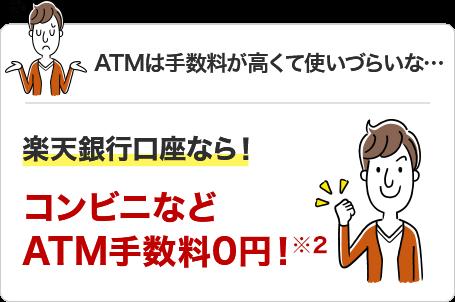 楽天銀行口座なら!コンビニなどATM手数料0円!