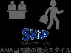 スキップサービス ANA国内線の搭乗スタイル