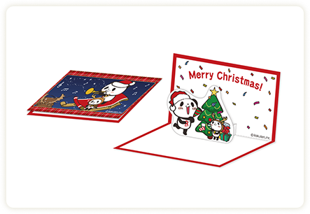 お買いものパンダ クリスマスカードA
