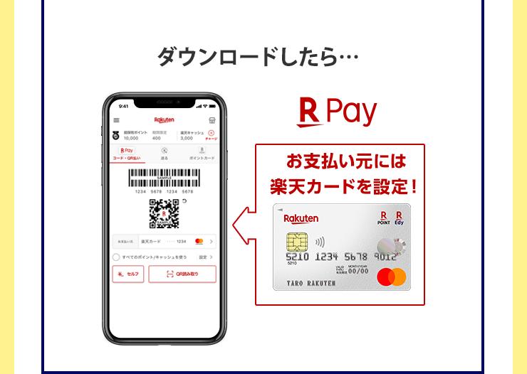 ダウンロードしたら… お支払い元には楽天カードを設定!