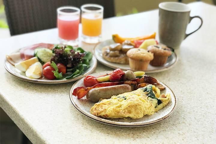 オープン以来大人気の朝食ビュッフェ