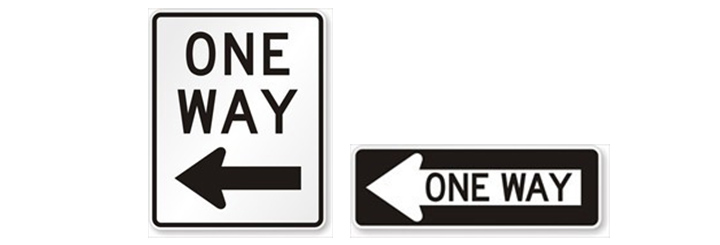 ONE WAY看板