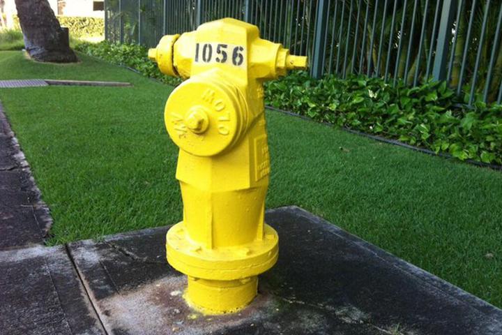 黄色い消火栓