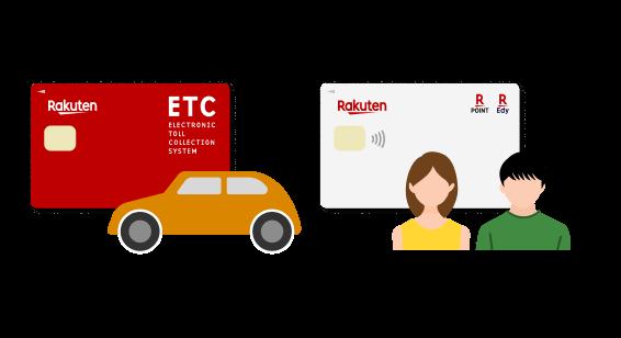 ETCカードや家族カードの利用
